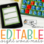 Editable Sight Word Magnetic Letter Center