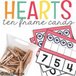 A Valentine Hearts Math Center Kids will Love