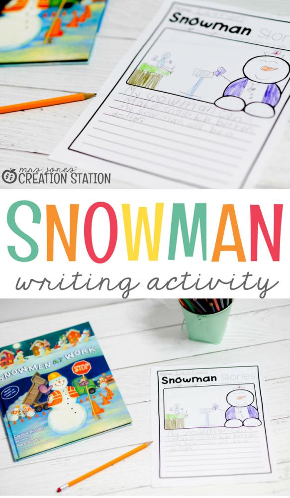 Snowmen At Work Free Writing Activity- Mrs. Jones Creation Station