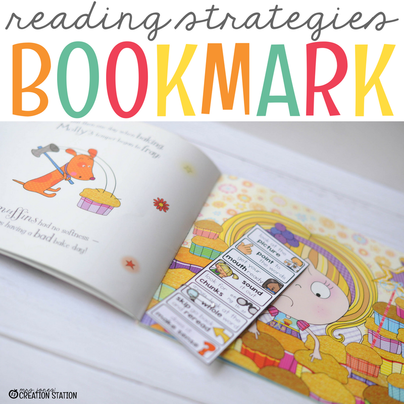 Teach and reinforce kindergarten reading strategies during read to self literacy center with this printable book