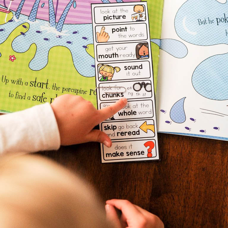 bookmark with reading strategies