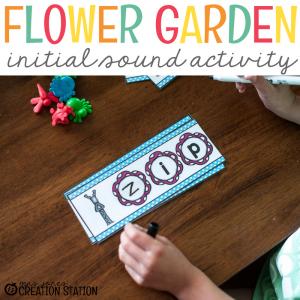 Initial Sound Flower Garden Literacy Activity