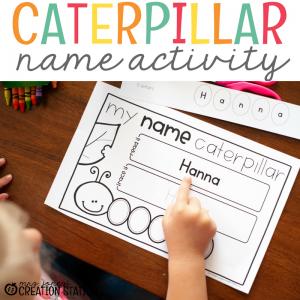Caterpillar Name Activity