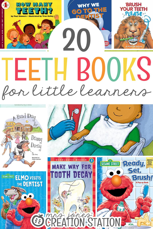 20 teeth books for little learners mrs jones creation station