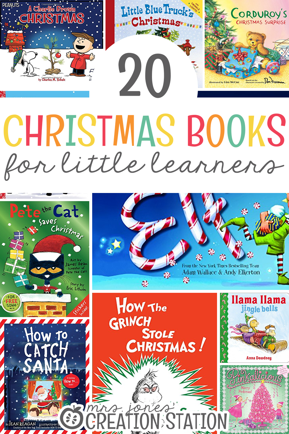 Twenty Christmas Books List for Little Learners- Mrs. Jones Creation Station
