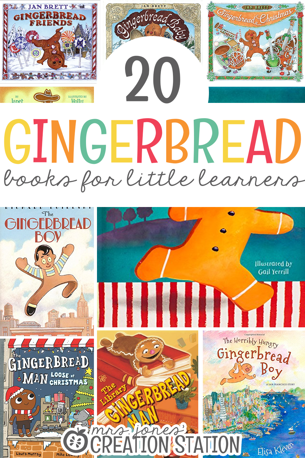 A great list of Gingerbread themed books for preschool, kindergarteners and first graders.