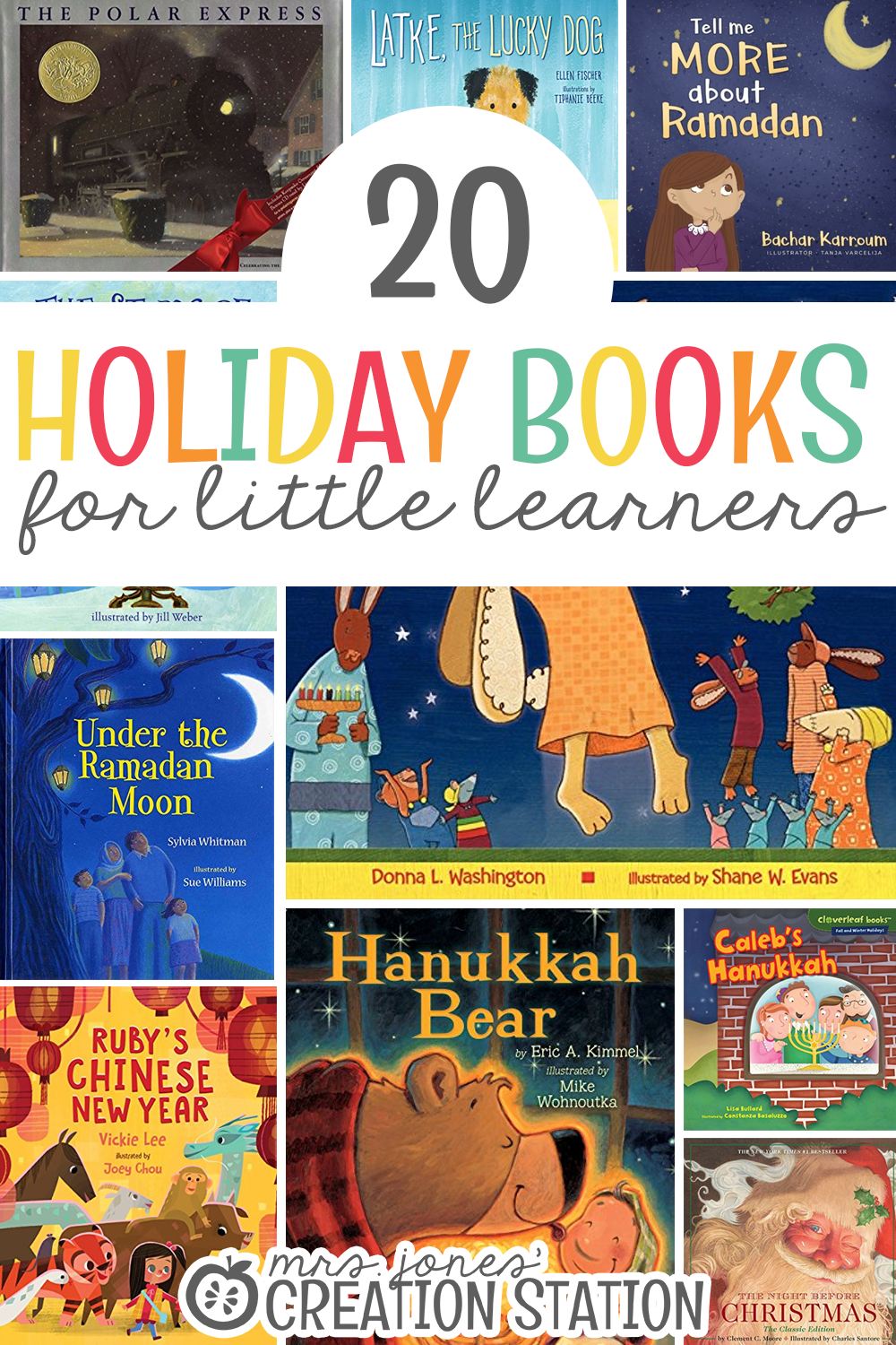 A great list of books that teach about all the winter holidays around the world for preschoolers, kindergarteners and first graders.