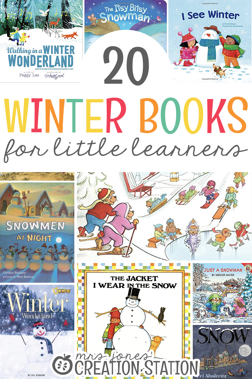 A list of Twenty winter books for little learners- Mrs. Jones Creation Station