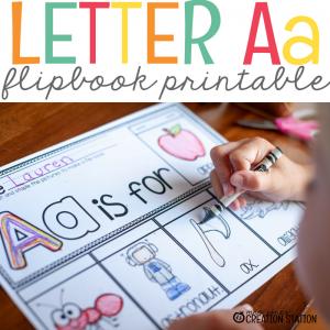 Letter Aa Flipbook FREEBIE!