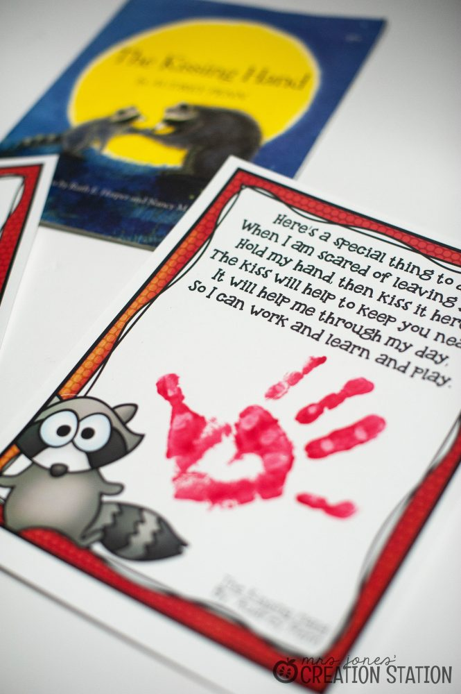 photo regarding Kissing Hand Printable identified as Kissing Hand Freebie - Mrs. Jones Output Station