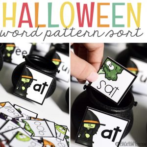 Free Halloween Center for Word Patterns