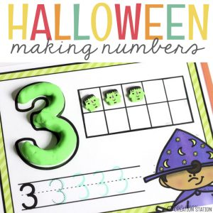 Free Halloween Math Number Mats