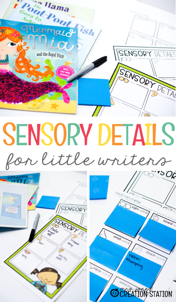 Sensory Details for Little Writers- Mrs. Jones Creation Station