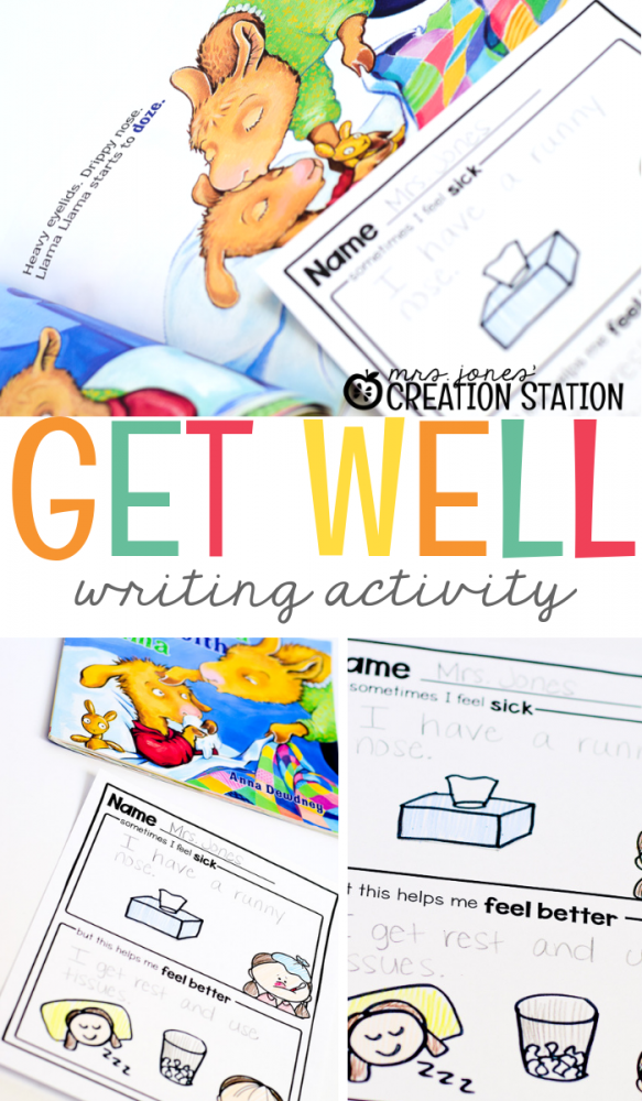 Get Well Writing- Mrs. Jones Creation Station
