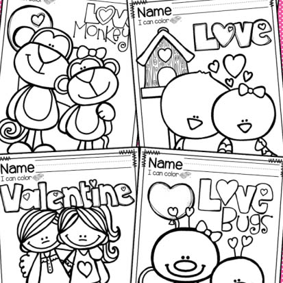 Valentine's Day Coloring Pages {FREEBIE} - Mrs. Jones Creation Station