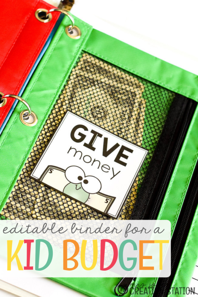 kid budget binder printable