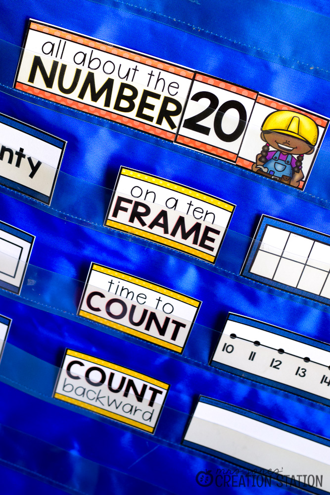 number chart counting to twenty