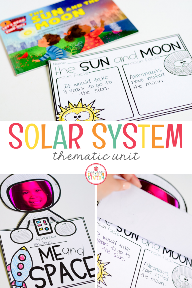 Solar System Thematic Unit for preschool, pre-k and kindergarten classrooms.