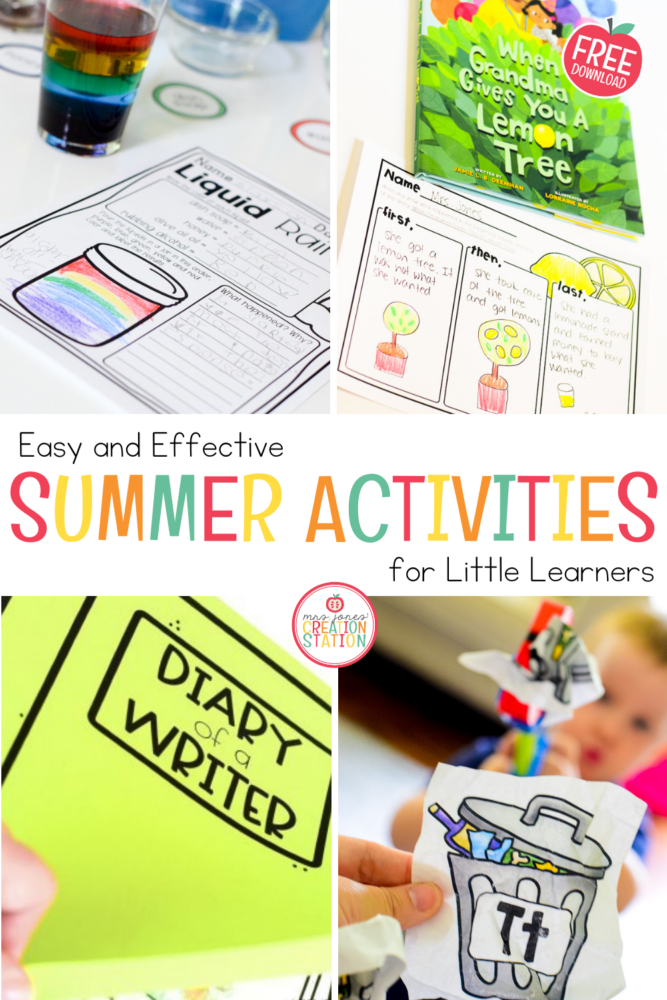 summer activities for little learners